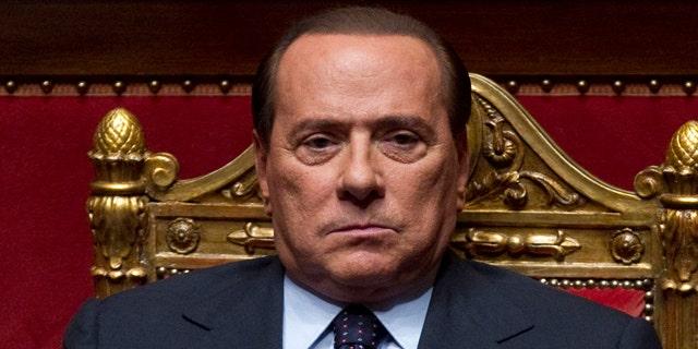 In this photo taken on Sept. 30, 2010, Italian Premier Silvio Berlusconi looks on at the Senate, in Rome.