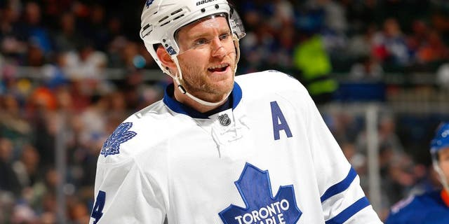 UNIONDALE, NY - FEBRUARY 12: Cody Franson #4 of the Toronto Maple Leafs skates against the New York Islanders at Nassau Veterans Memorial Coliseum on February 12, 2015 in Uniondale, New York. The New York Islanders defeated the Toronto Maple Leafs 3-2. (Photo by Mike Stobe/NHLI via Getty Images)