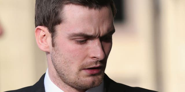 BRADFORD, ENGLAND - FEBRUARY 16: Adam Johnson arrives at Bradford Crown Court for day three of the trial where Johnson is facing child sexul assault charges on February 16, 2016 in Bradford, England. The former Sunderland FC midfielder, aged 28 and from Castle Eden, County Durham, is on trial for two counts of sexual activity having pleaded guilty to two others. (Photo by Christopher Furlong/Getty Images)