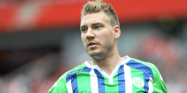 LONDON, ENGLAND - JULY 25: Nicklas Bendtner of Wolfsburg during the match between VFL Wolfsburg and Villarreal CF at Emirates Stadium on July 25, 2015 in London, England. (Photo by David Price/Arsenal FC via Getty Images)