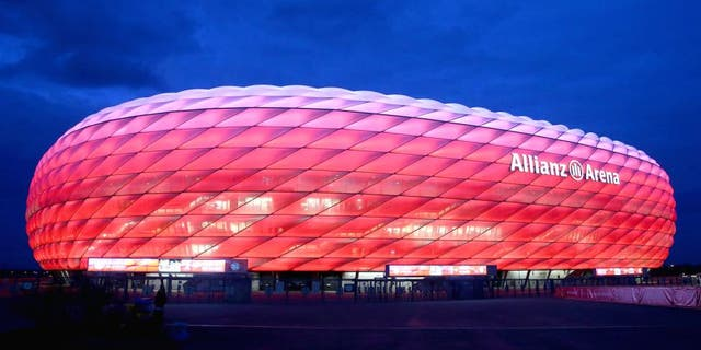 MUNICH, GERMANY - DECEMBER 15: General view of the Allianz Arena prior to the round of 16 DFB Cup match between FC Bayern Muenchen and Darmstadt 98 at Allianz Arena on December 15, 2015 in Munich, Germany. (Photo by Alexander Hassenstein/Bongarts/Getty Images)