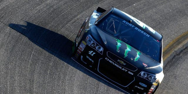 HAMPTON, GA - FEBRUARY 26: Kurt Busch drives the #41 Monster Energy/Haas Automation Chevrolet during qualifying for the NASCAR Sprint Cup Series Folds of Honor QuikTrip 500 at Atlanta Motor Speedway on February 26, 2016 in Hampton, Georgia. (Photo by Jeff Zelevansky/Getty Images)