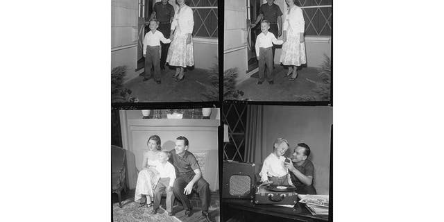 Bob Crane with his family at home.