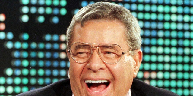 "Comedian Jerry Lewis, 73, appears as a guest on the CNN program "" [Larry King] Live"" August 26 in Los Angeles. This is Lewis' first American interview after returning from Australia where he contracted viral meningitis in early August. - RTXJ59Z"