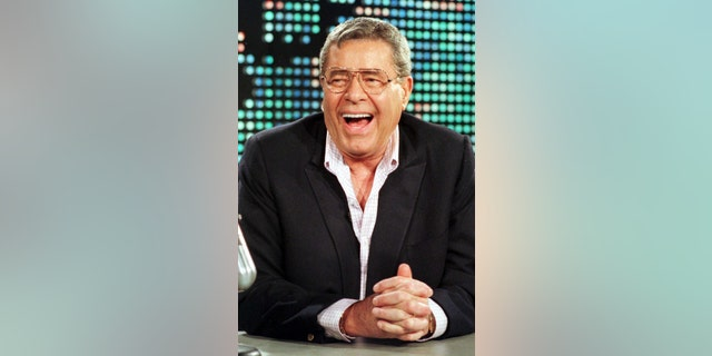 """Comedian Jerry Lewis, 73, appears as a guest on the CNN program """" [Larry King] Live"""" August 26 in Los Angeles. This is Lewis' first American interview after returning from Australia where he contracted viral meningitis in early August. - RTXJ59Z"""