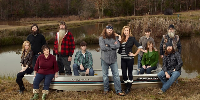 "The Robertson family from A&アンプ;E's former ""Duck Dynasty."""