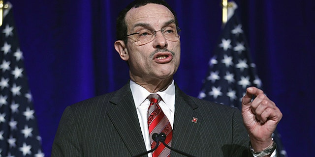 Feb. 26: Washington Mayor Vincent Gray addresses the Democratic National Committee winter meeting in Washington.
