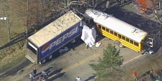 March 14, 2012: A school bus collided with a tractor-trailer in western Pennsylvania.