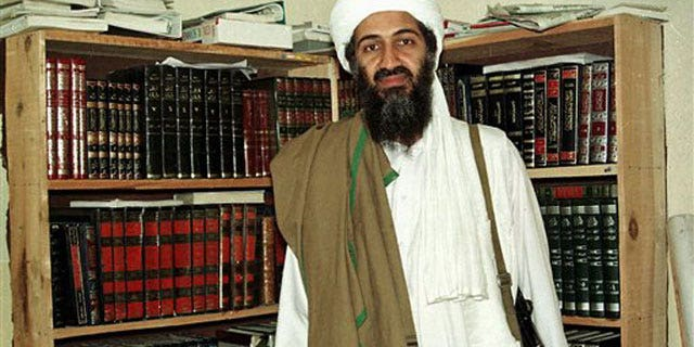 File: Al Qaeda leader Osama bin Laden in Afghanistan.