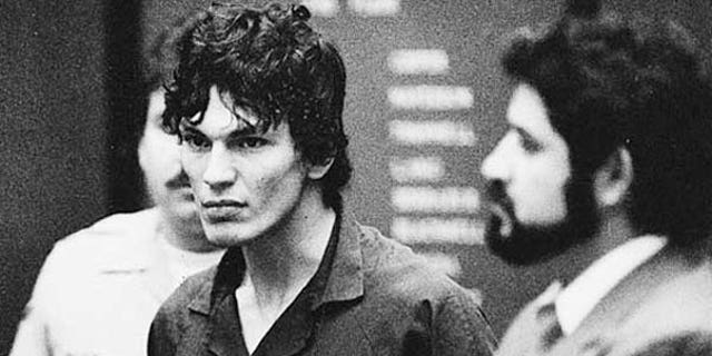 FILE: Serial killer Richard Ramirez was sentenced to death in 1989 for committing a string of gruesome murders, but will likely die of old age rather than face execution because of the lengthy appeals process.