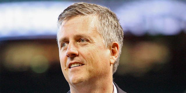 September 02, 2012; Houston, TX, USA; Houston Astros general manager Jeff Luhnow before a game against the Cincinnati Reds at Minute Maid Park. Mandatory Credit: Troy Taormina-USA TODAY Sports