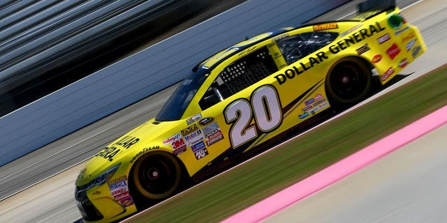 MARTINSVILLE, VA - OCTOBER 30: Matt Kenseth, driver of the #20 Dollar General Toyota, practices for the NASCAR Sprint Cup Series Goody's Headache Relief Shot 500 at Martinsville Speedway on October 30, 2015 in Martinsville, Virginia. (Photo by Sarah Crabill/Getty Images)