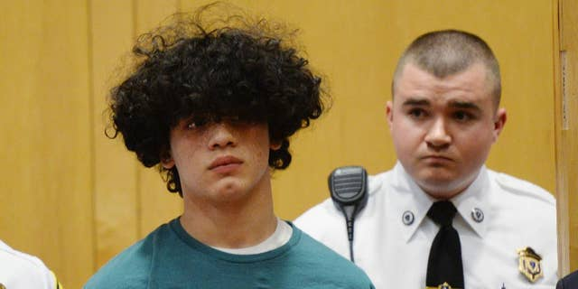 Mathew Borges, 15, attending his arraignment in Lawrence District Court in Lawrence, Mass, in December 2016.