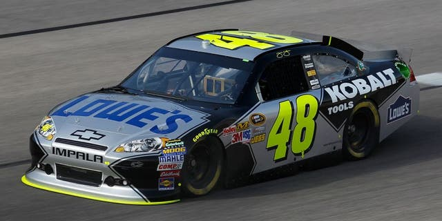 FORT WORTH, TX - APRIL 07: Jimmie Johnson, driver of the #48 Lowe's/Kobalt Tools Chevrolet, practices for the NASCAR Sprint Cup Series Samsung Mobile 500 at Texas Motor Speedway on April 7, 2011 in Fort Worth, Texas. (Photo by Todd Warshaw/Getty Images for NASCAR) *** Local Caption *** Jimmie Johnson