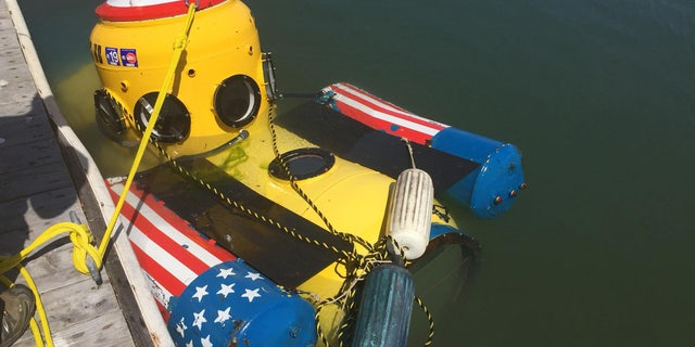Firefighters found the unoccupied submersible near the Bay Bridge and towed it to a marina.