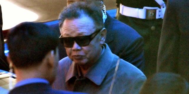 May 3: North Korean leader Kim Jong Il leaves a hotel in Dalian, northeastern China.