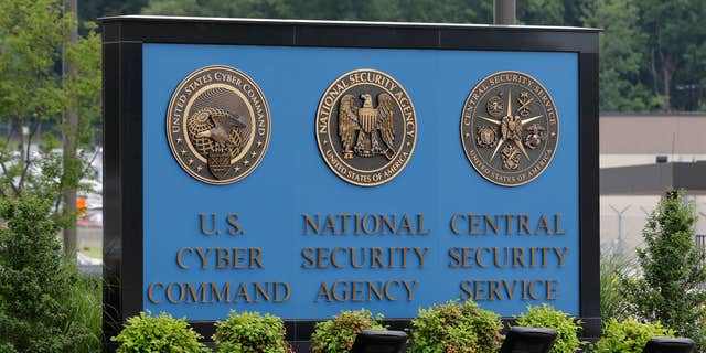 June 6, 2013: A sign stands outside the National Security Agency (NSA) campus in Fort Meade, Md.