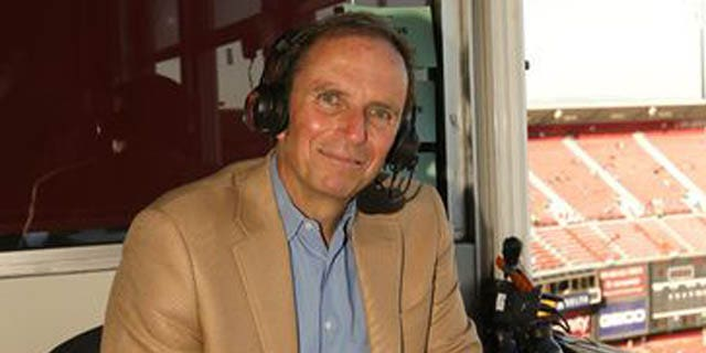 Ted Robinson, seen here in 2013, has been the radio play-by-play voice of the San Francisco 49ers since 2009. (49ers.com/KTVU)