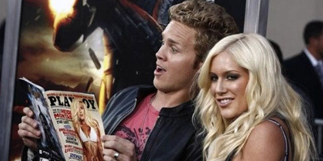 """Aug. 6, 2009: Television personalities Spencer Pratt, left, and Heidi Montag arrive at the premiere of """"G.I. Joe"""" in Los Angeles."""