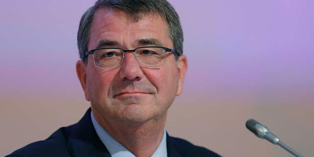 """May 30, 2015: U.S. Secretary of Defense Ashton Carter delivers his speech about """"The United States and Challenges to Asia-Pacific Security"""" during the 14th International Institute for Strategic Studies Shangri-la Dialogue, or IISS, Asia Security Summit"""