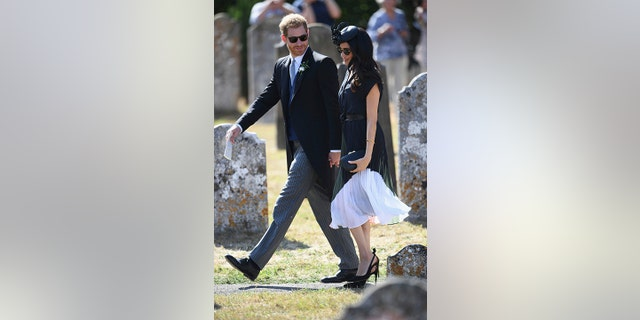 Markle spent her birthday with her husband, Prince Harry, at his friend's wedding.
