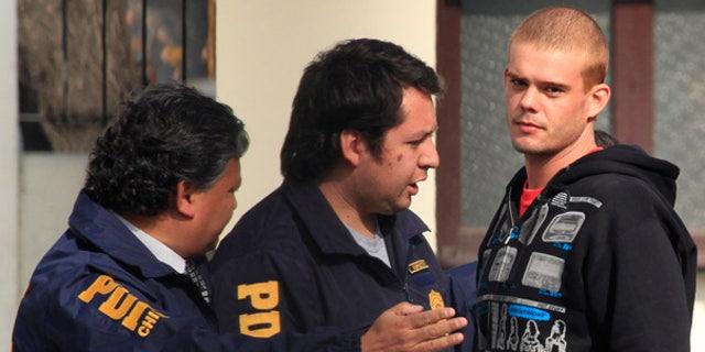 June 3: Chile's investigative police detain Joran van der Sloot after he was found in Santiago.