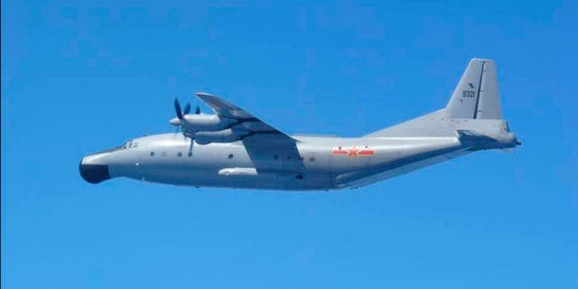 A Y-8 military plane, similar to the one seen here, vanished on its way to Yangon in Burma.