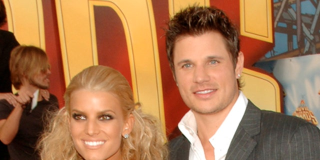Jessica Simpson, left, and Nick Lachey divorced in 2006 after three years of marriage.