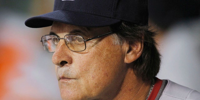 June 11: St. Louis Cardinals' Tony LaRussa watches his team play against the Arizona Diamondbacks in the ninth inning of a baseball game in Phoenix.
