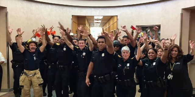 """Norfolk Police Department posted its lip sync battle to Bruno Mars' """"Uptown Funk."""""""