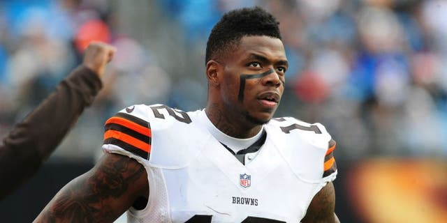 CHARLOTTE, NC - DECEMBER 21: Josh Gordon #12 of the Cleveland Browns watches the action against the Carolina Panthers on December 21, 2014 at Bank of America Stadium in Charlotte, North Carolina. (Photo by Scott Cunningham/Getty Images) *** Local Caption *** Josh Gordon