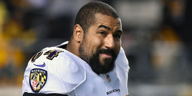 PITTSBURGH, PA - NOVEMBER 2: Offensive lineman John Urschel #64 of the Baltimore Ravens looks on from the field before a game against the Pittsburgh Steelers at Heinz Field on November 2, 2014 in Pittsburgh, Pennsylvania. The Steelers defeated the Ravens 43-23. (Photo by George Gojkovich/Getty Images) *** Local Caption *** John Urschel