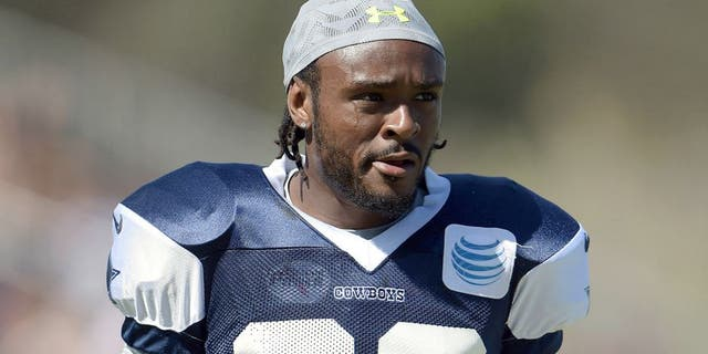 Aug 1, 2015; Oxnard, CA, USA; Dallas Cowboys cornerback Brandon Carr (39) at training camp at River Ridge Fields. Mandatory Credit: Kirby Lee-USA TODAY Sports