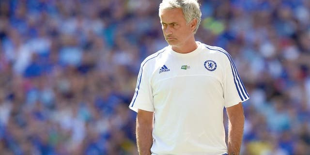 LONDON, ENGLAND - AUGUST 02: Manager Jose Mourinho of Chelsea looks on during the FA Community Shield match between Chelsea and Arsenal at Wembley Stadium on August 2, 2015 in London, England. (Photo by Michael Regan - The FA/The FA via Getty Images)