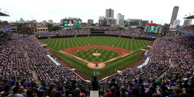 CHICAGO, IL - JULY 26: A general view of Wrigley Field as the Chicago Cubs take on the Philadelphia Phillies on July 26, 2015 in Chicago, Illinois. The Phillies defeated the Cubs 11-5. (Photo by Jonathan Daniel/Getty Images)
