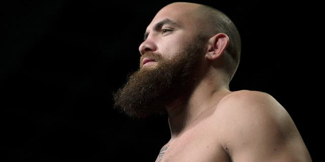 LAS VEGAS, NEVADA - MAY 22: Travis Browne weighs in during the UFC 187 weigh-in at the MGM Grand Conference Center on May 22, 2015 in Las Vegas, Nevada. (Photo by Brandon Magnus/Zuffa LLC/Zuffa LLC via Getty Images)