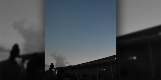 The solar eclipse as seen in Clemson, S.C. on Aug. 21, 2017.