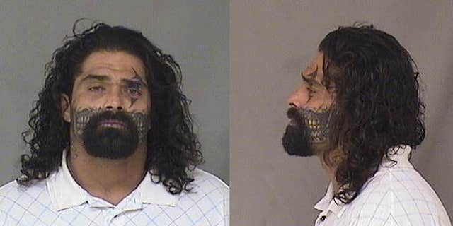 This undated booking photo provided by Alamogordo Police Department shows Joseph Moreno.