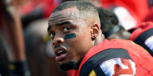 Sep 5, 2015; College Park, MD, USA; Maryland Terrapins defensive back William Likely (4) looks on against the Richmond Spiders at Byrd Stadium. Maryland won the game 50-21. Mandatory Credit: Derik Hamilton-USA TODAY Sports
