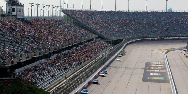 DARLINGTON, SC - SEPTEMBER 05: Cars race during the NASCAR XFINITY Series VFW Sport Clips Help A Hero 200 at Darlington Raceway on September 5, 2015 in Darlington, South Carolina. (Photo by Brian Lawdermilk/NASCAR via Getty Images)