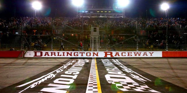 DARLINGTON, SC - MAY 10: A gerneral view of the start/finish line after the NASCAR Nationwide Series VFW Sport Clips Help A Hero 200 at Darlington Raceway on May 10, 2013 in Darlington, South Carolina. (Photo by Jonathan Ferrey/NASCAR via Getty Images)