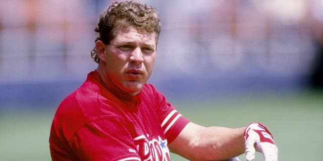29 Apr 1993: Outfielder Lenny Dykstra of the Philadelphia Phillies stands on the field during a game against the San Diego Padres at Jack Murphy Stadium in San Diego, California.