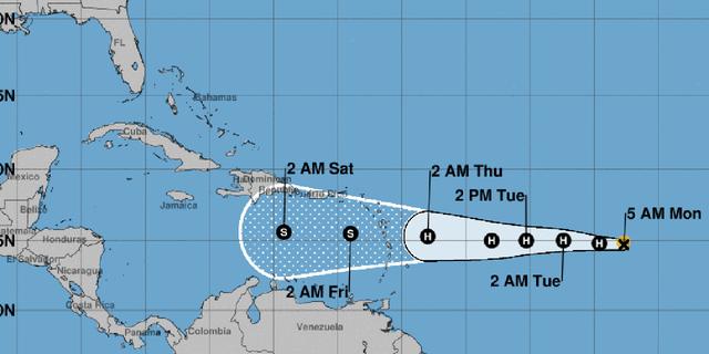 Isaac has become the fifth hurricane of the 2018 Atlantic season.