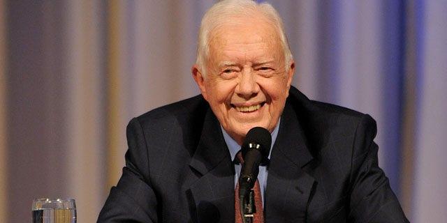 Sept. 14: Former President Jimmy Carter speaks at The Carter Center during a conversation in Atlanta.