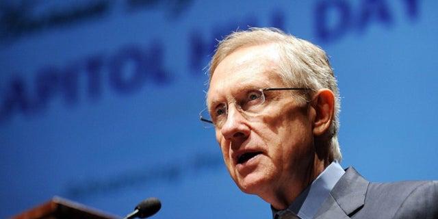 FILE: Senate Majority Leader Harry Reid of Nevada speaks on Capitol Hill on Sept. 15.