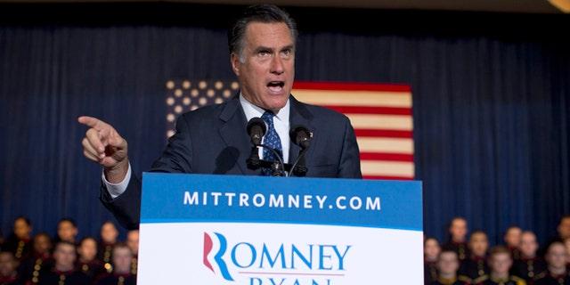 Sept. 28, 2012: Republican presidential candidate, former Massachusetts Gov. Mitt Romney speaks in Wayne, Pa.