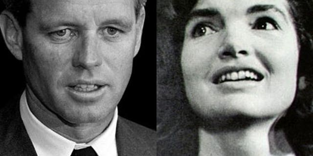 Bobby Kennedy and Jackie Kennedy
