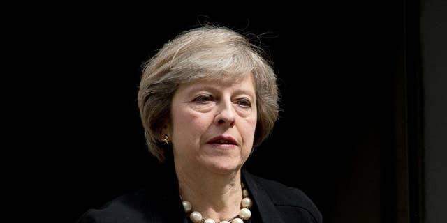 Theresa May on Tuesday.