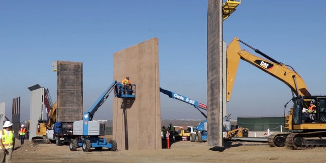 Several prototypes are being considered for President Trump's planned border wall.