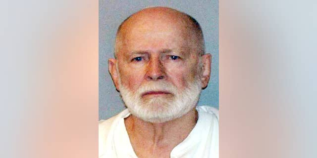 """FILE - This file June 23, 2011, booking photo provided by the U.S. Marshals Service shows James """"Whitey"""" Bulger."""